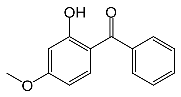 Chemical structure of Benzophenone-3