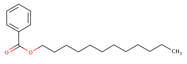 Chemical structure of C12-15 Alkyl Benzoate
