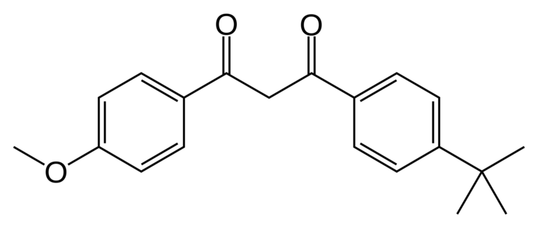 Chemical structure Avobenzone