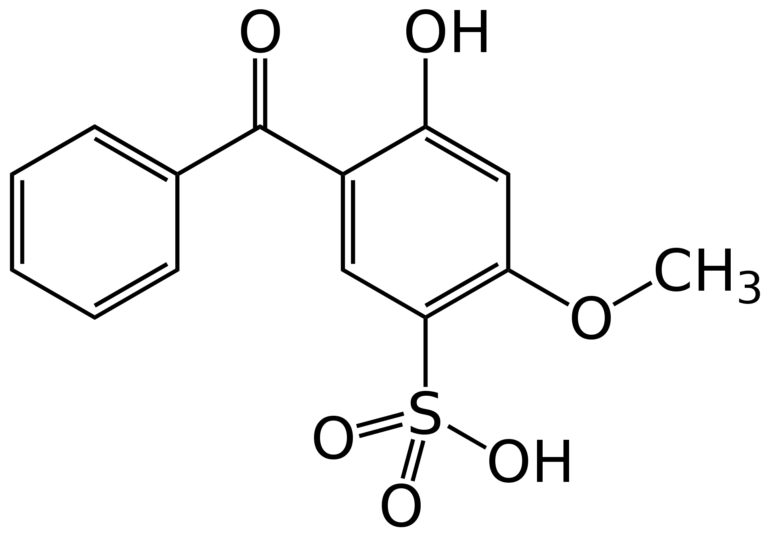 Chemical structure Benzophenone-4
