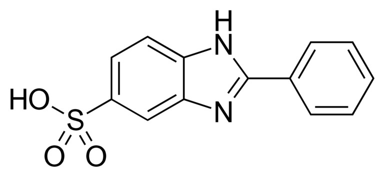 Chemical structure of Phenylbenzimidazole Sulfonic Acid