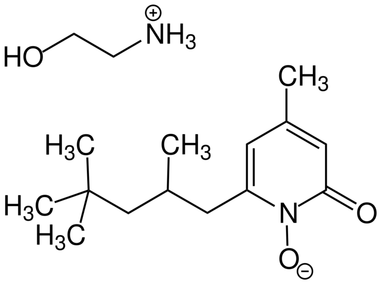 Chemical structure of Piroctone Olamine