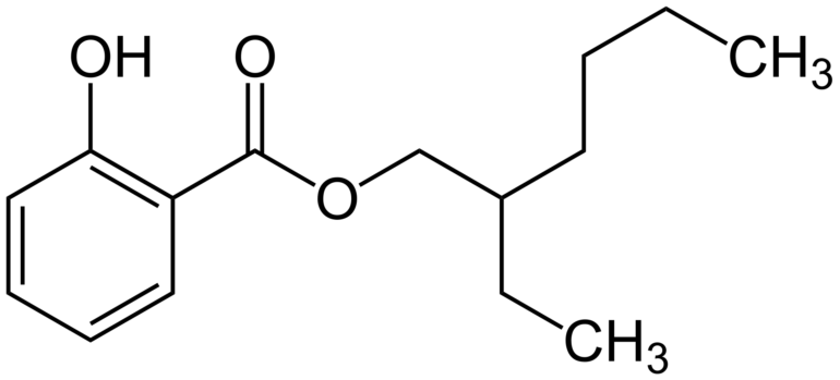 Chemical structure of Ethylhexyl Salicylate